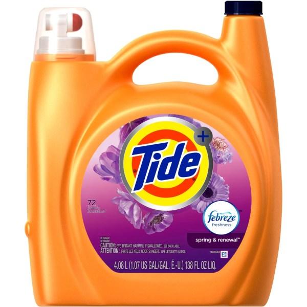 Tide Febreze Freshness Spring & Renewal Scent Liquid Laundry Detergent 138 Oz. Detergents