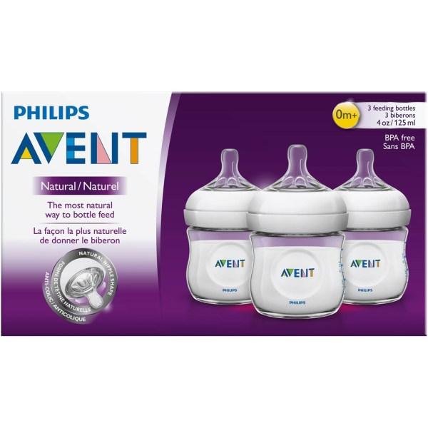 4 Ounces Baby Bottle Avent Natural