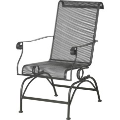 Wrought Iron Rocking Chair Anti Gravity Costco Courtyard Creations Dixon Stationary Rocker