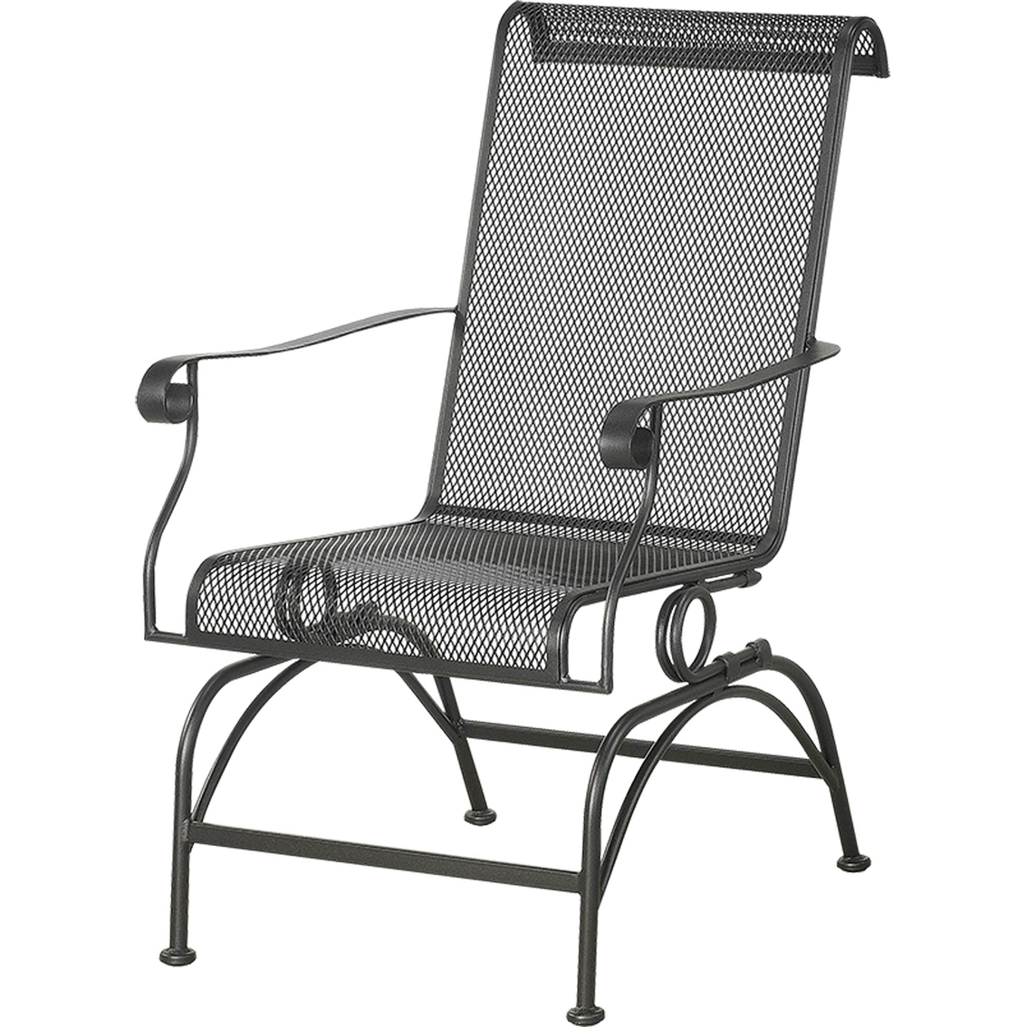 iron rocking chair high philippines courtyard creations dixon wrought stationary rocker