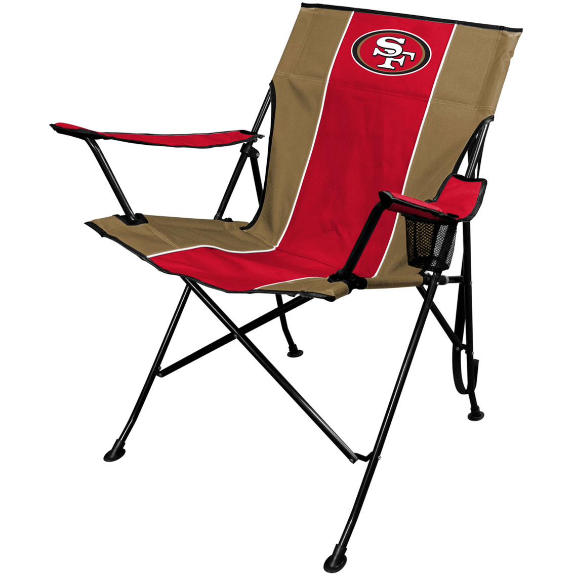 49ers camping chair low back chairs jarden sports licensing nfl san francisco tailgate