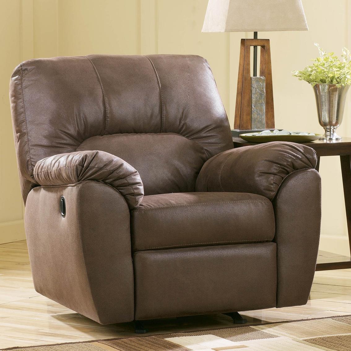 www recliner chairs outdoor patio lounge chair ashley amazon walnut rocker furniture