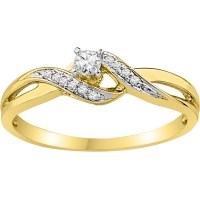 10k Yellow Gold 1/8 Ctw Diamond Promise Ring | Promise ...