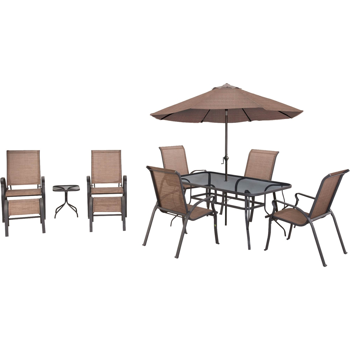 sling back patio chairs leather side chair courtyard creations scottsburg 10 pc. dining set | sets more shop the exchange