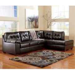 Durablend Sofa Skirted Signature Design By Ashley Alliston 2 Pc Sectional Raf Chaise Laf