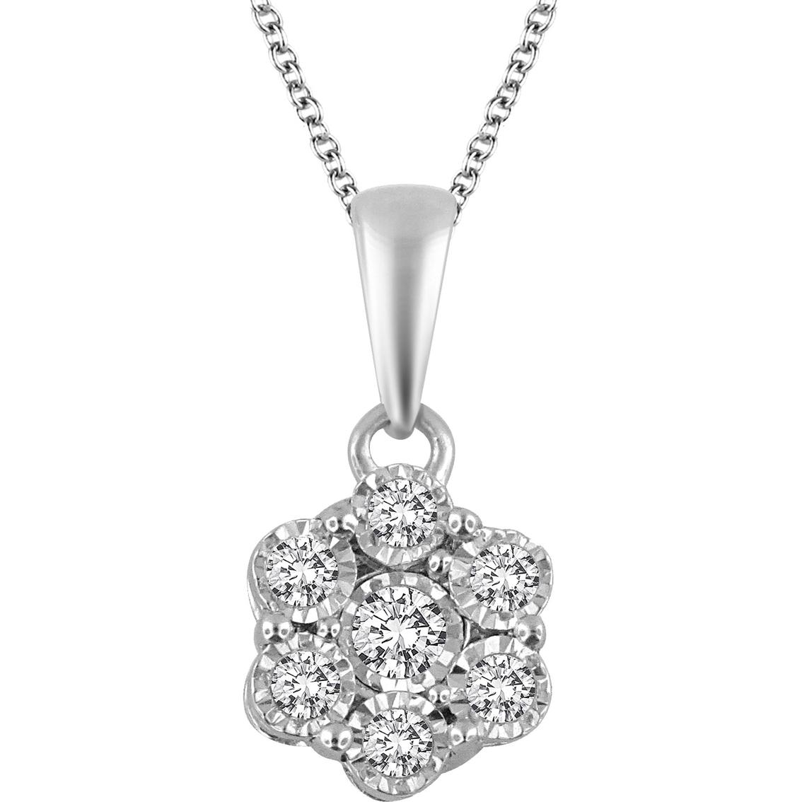Dazzling Diamonds 10k Gold 1 5 Ctw Diamond Cluster Mirror