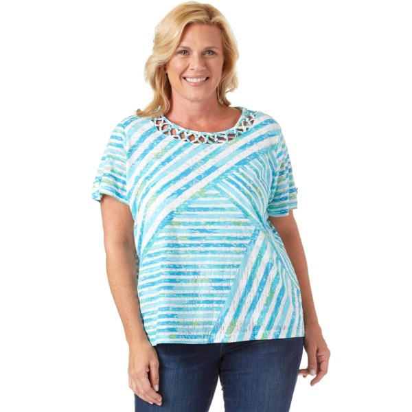 Alfred Dunner Knit Top Tops Apparel Exchange