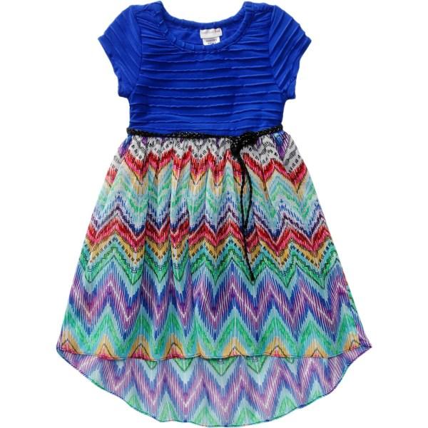 Emily West Girls Chevron Chiffon Dress Dresses Apparel