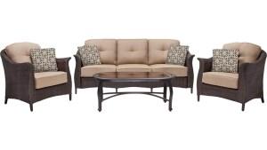 Hanover Outdoor Furniture Gramercy Wicker 4 Pc Patio