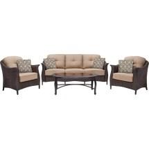 Hanover Outdoor Furniture Gramercy Wicker 4 Pc. Patio