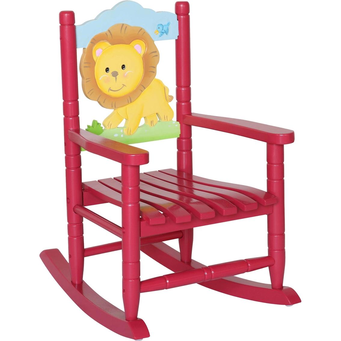 rocking chair rockers dining chairs vintage teamson kids safari lion baby toys