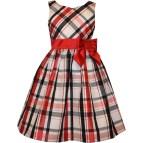 Bonnie Jean Girls Plaid Dress With Bow Dresses Apparel