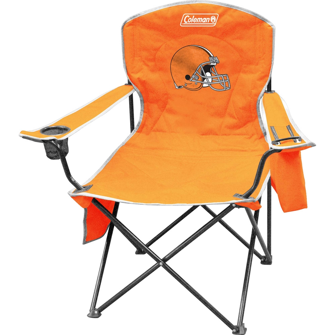 coleman max camping chair cozee home covers jarden sports licensing nfl cleveland browns cooler quad
