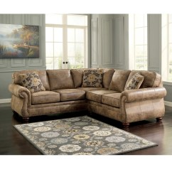 2 Pc Laf Sectional Sofa With Recliners On Each End Signature Design By Ashley Larkinhurst Raf