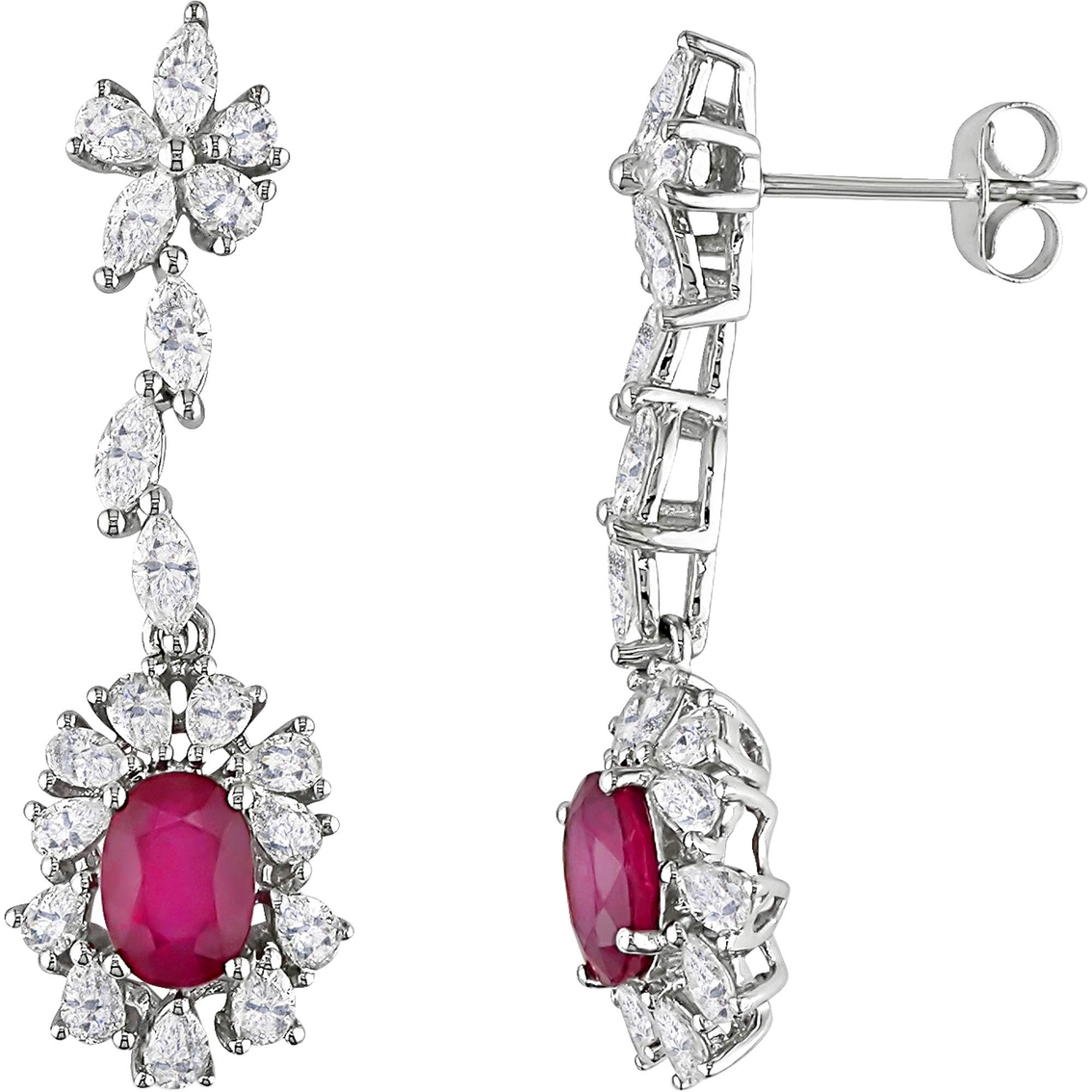 Sofia B 14k White Gold 2 1 10 Ctw Diamond And Ruby