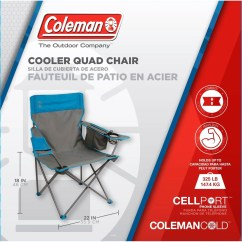 Coleman Camping Oversized Quad Chair With Cooler Comfortable Outdoor Chairs Shop The Exchange