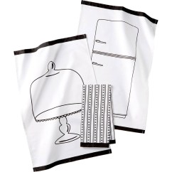 Martha Stewart Kitchen Towels Modern Countertops Collection 3 Pc Pencil Sketch