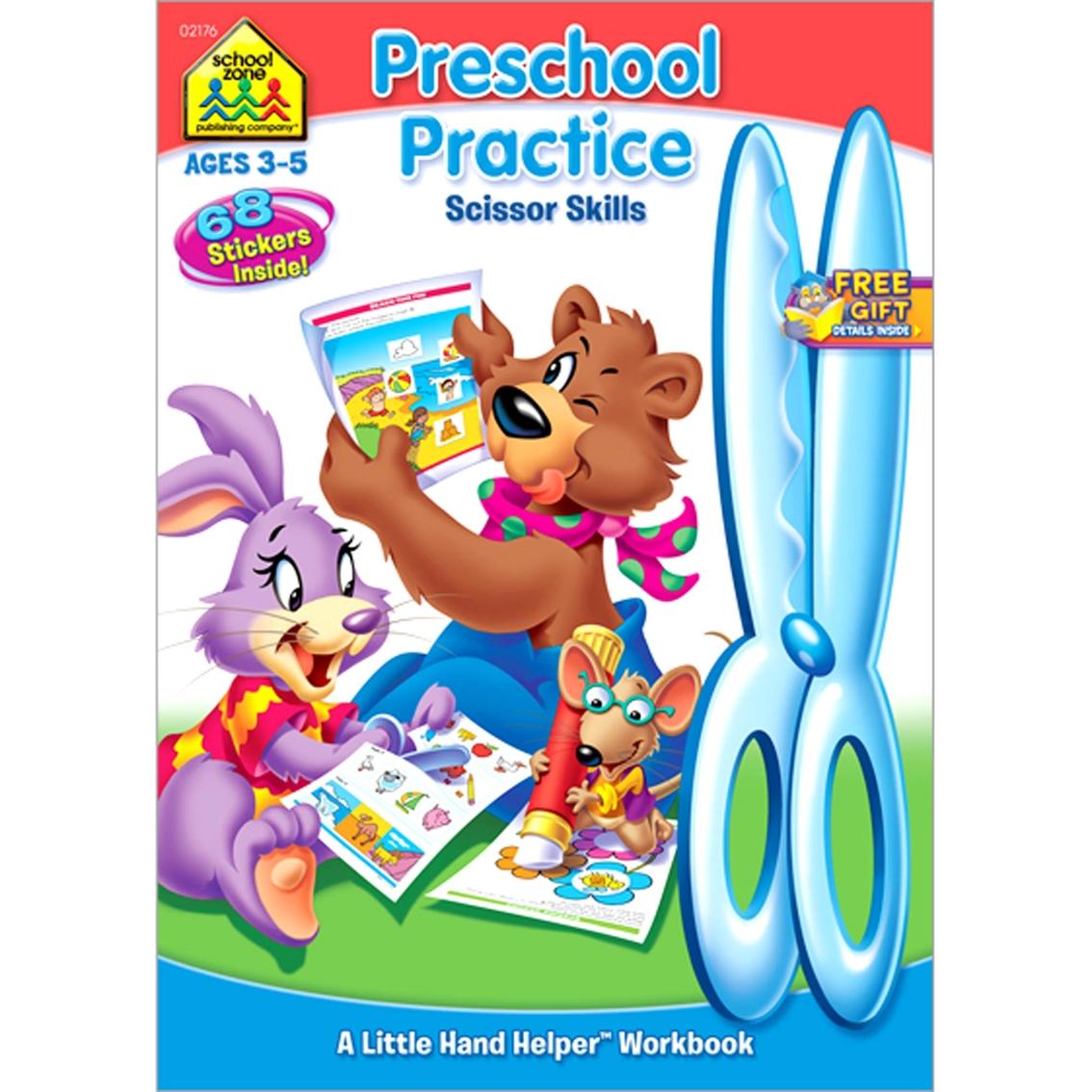 School Zone Preschool Practice Scissor Skills