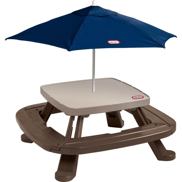 Little Tikes Fold ' Store Picnic Table With Market Umbrella Yard Games Baby & Toys