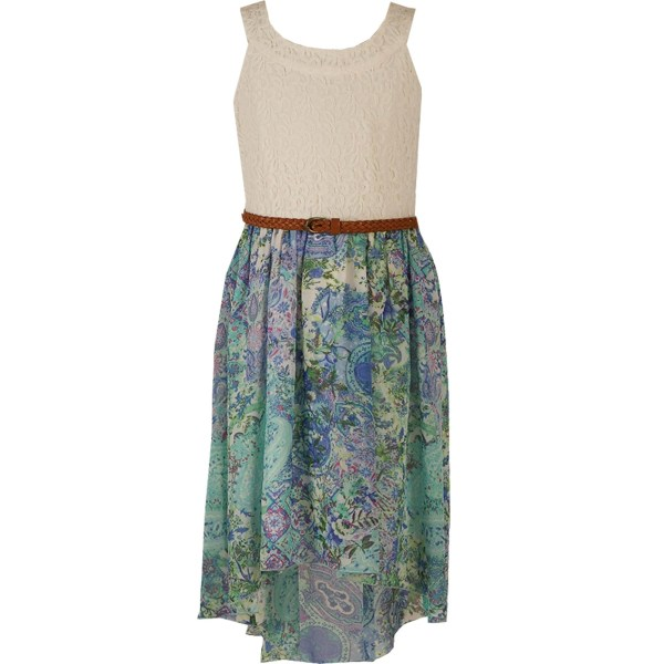 Speechless Girls Lace Print High Dress 7-16