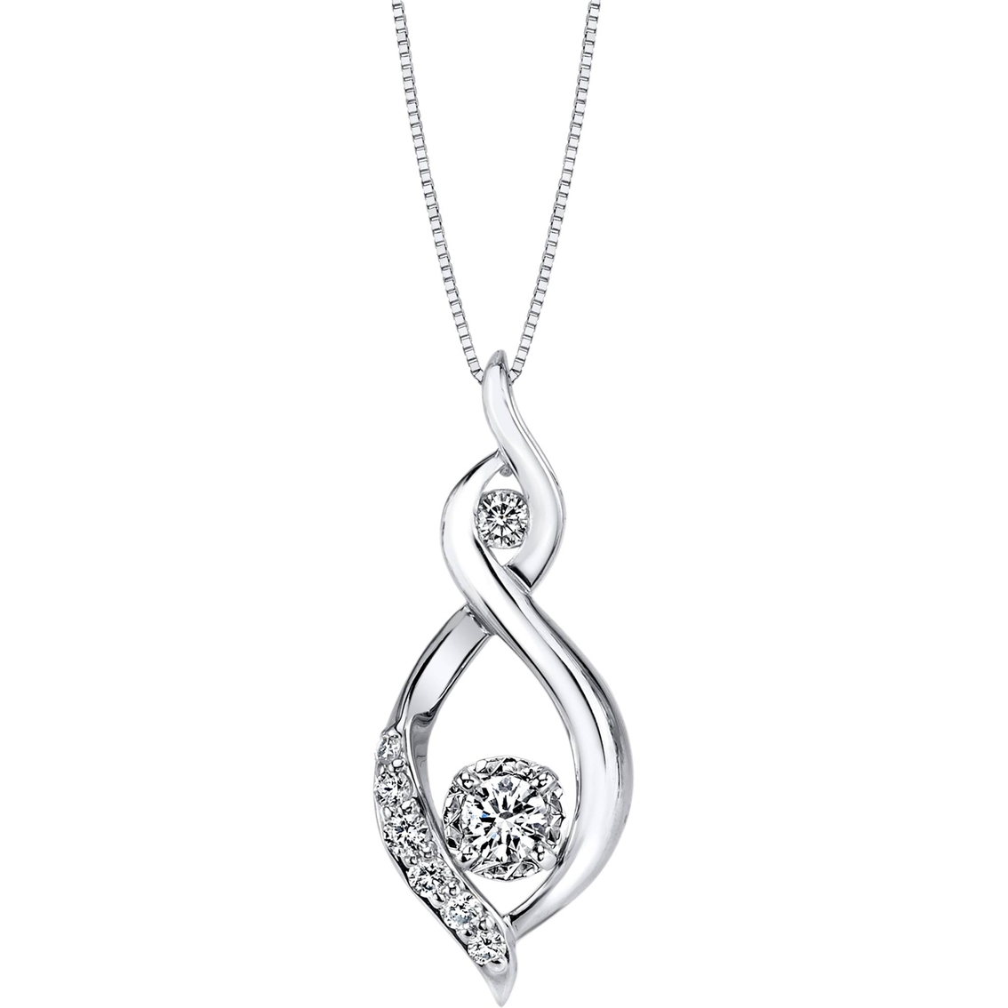 Sirena Collection 10k White Gold 1 4 Ctw Fashion Pendant