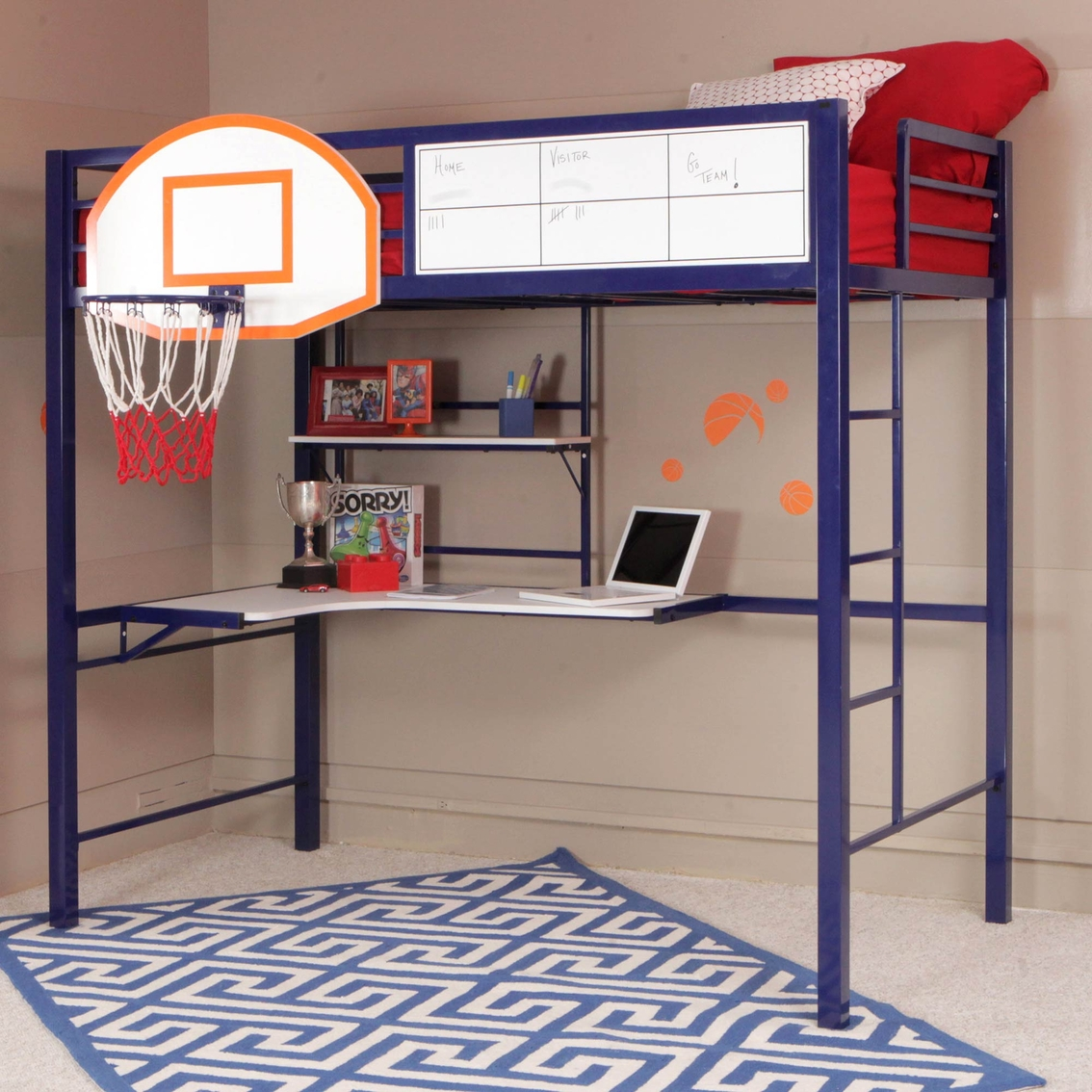powell hoops basketball bunk bed beds