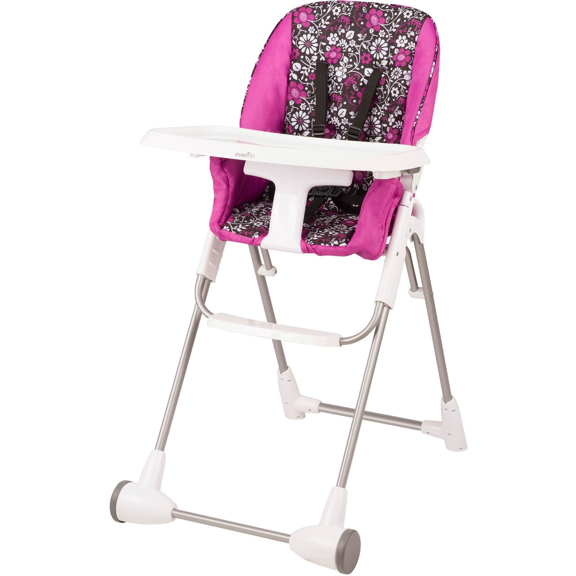 high chair that folds flat best chairs swivel glider recliner evenflo symmetry fold highchairs baby