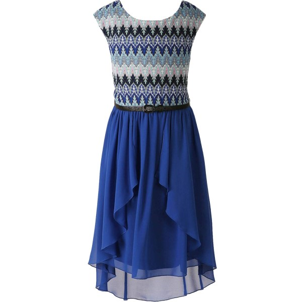Speechless Girls Size Textured Knit Dress With Tulle