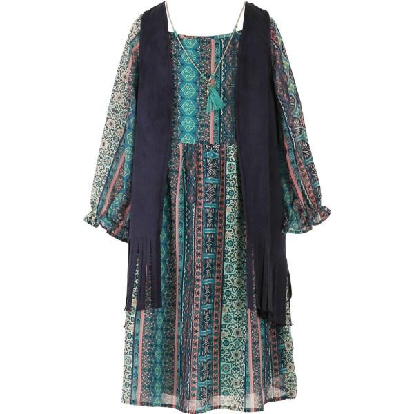 Speechless Girls Size Vest Over Print Dress 7