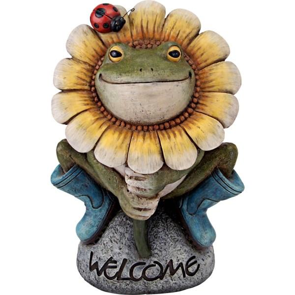 Welcome Frog Garden Statue