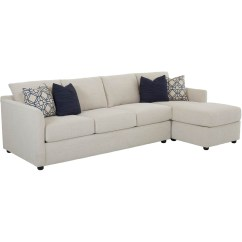 2 Pc Laf Sectional Sofa White Corner Bed With Storage Klaussner Atlanta Queen Sleeper Raf