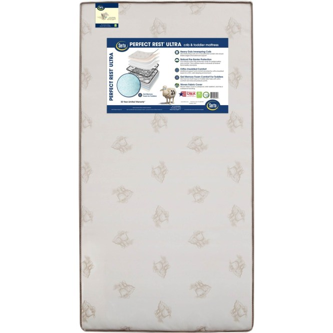 Serta Perfect Rest Ultra Plush Crib And Toddler Mattress