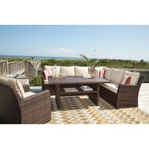 Ashley Salceda Outdoor Sectional Lounge Chair And Dining