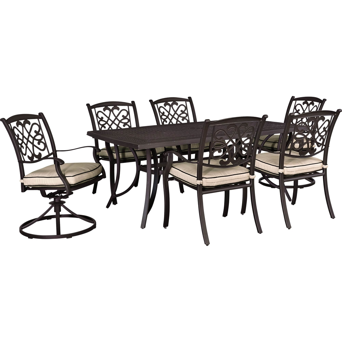 table with swivel chairs massage chair retailers ashley burnella outdoor dining four