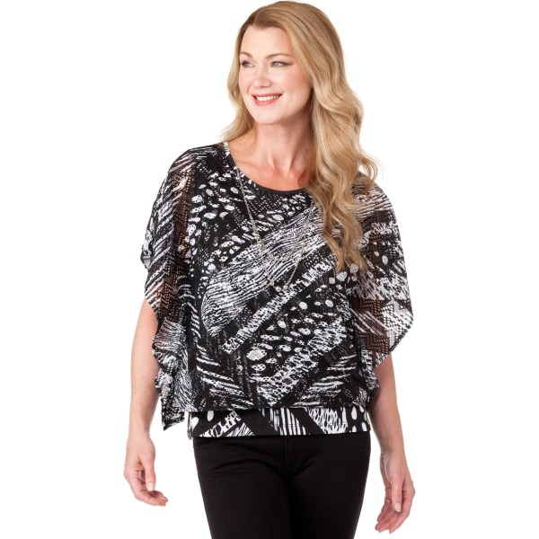 Alfred Dunner Printed Knit Top Blouses & Tunics Apparel Exchange