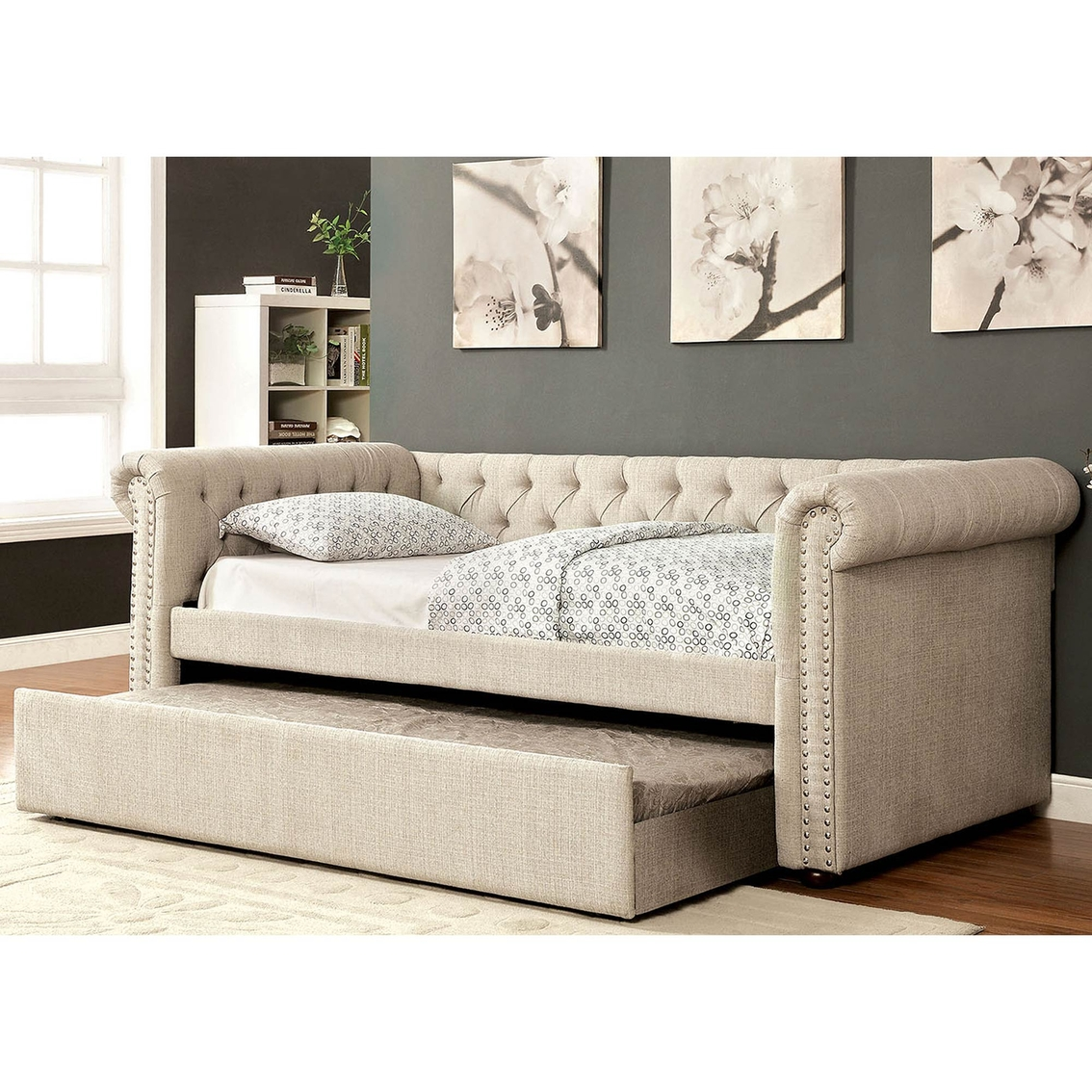 leona sofa bed macy s sectional furniture of america leanna daybed with trundle beds