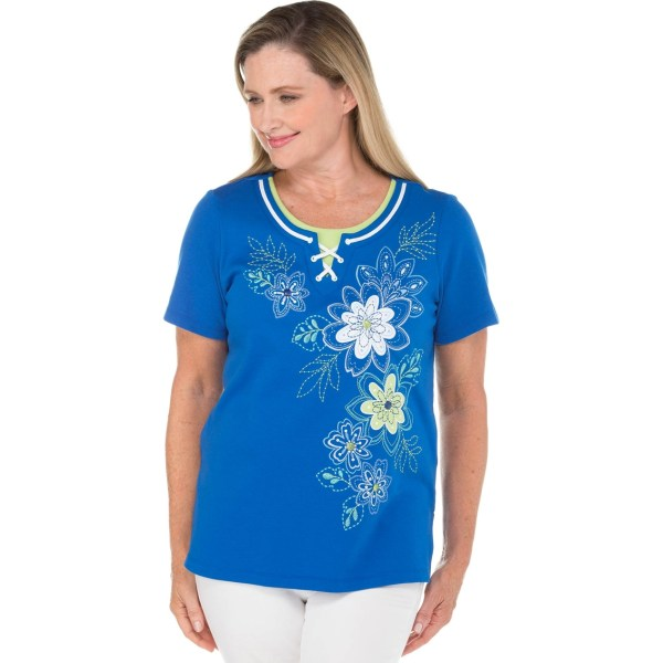 Alfred Dunner Floral Knit Top Blouses & Tunics Apparel Exchange