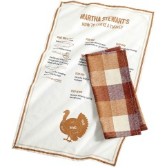 Martha Stewart Kitchen Towels Wall Storage Collection 2 Pc Cotton Butcher Block