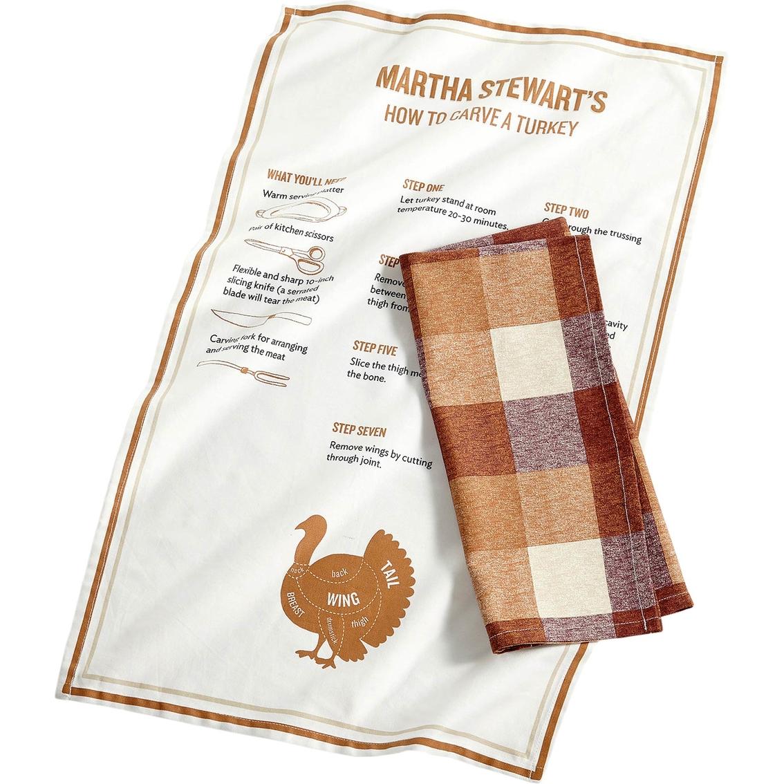 martha stewart kitchen towels lowes hood collection 2 pc cotton butcher block