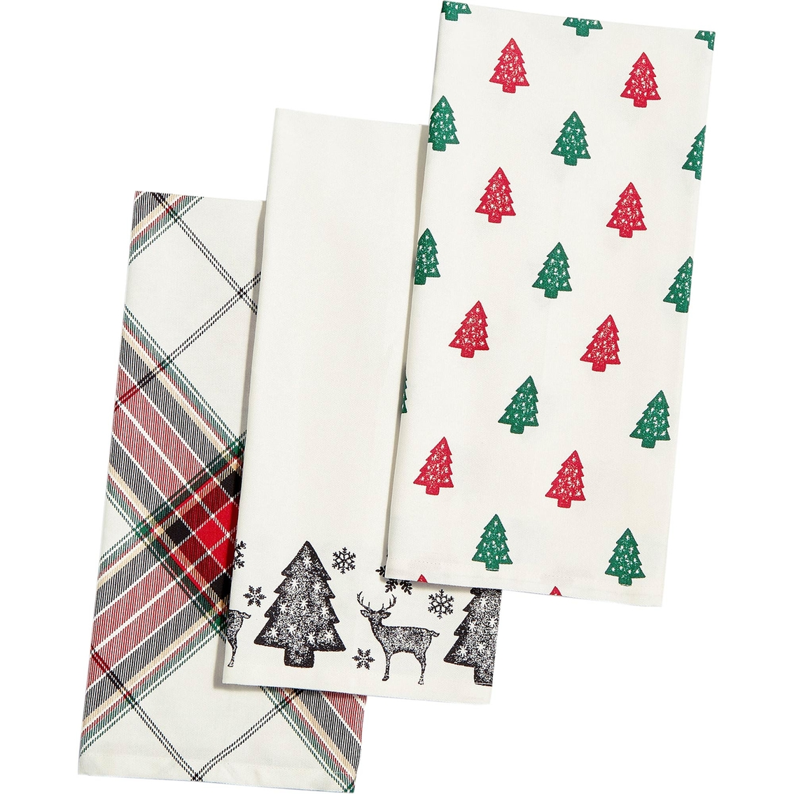 martha stewart kitchen towels pull down faucet collection deer pond cotton 3 pc