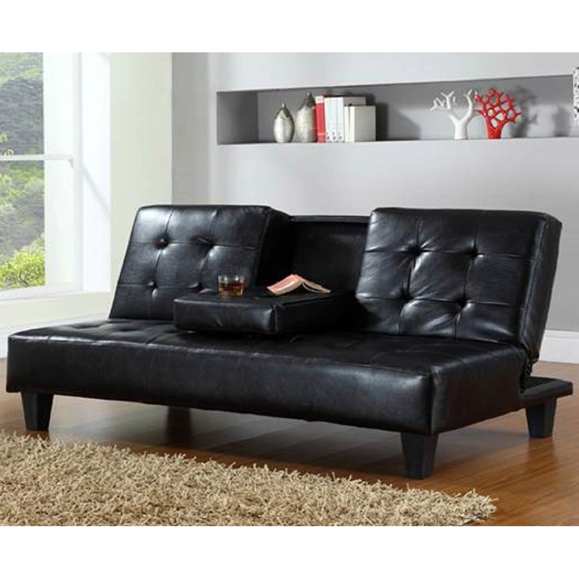 rialto faux leather futon sofa bed cheap cuddle uk hodedah and sofas couches