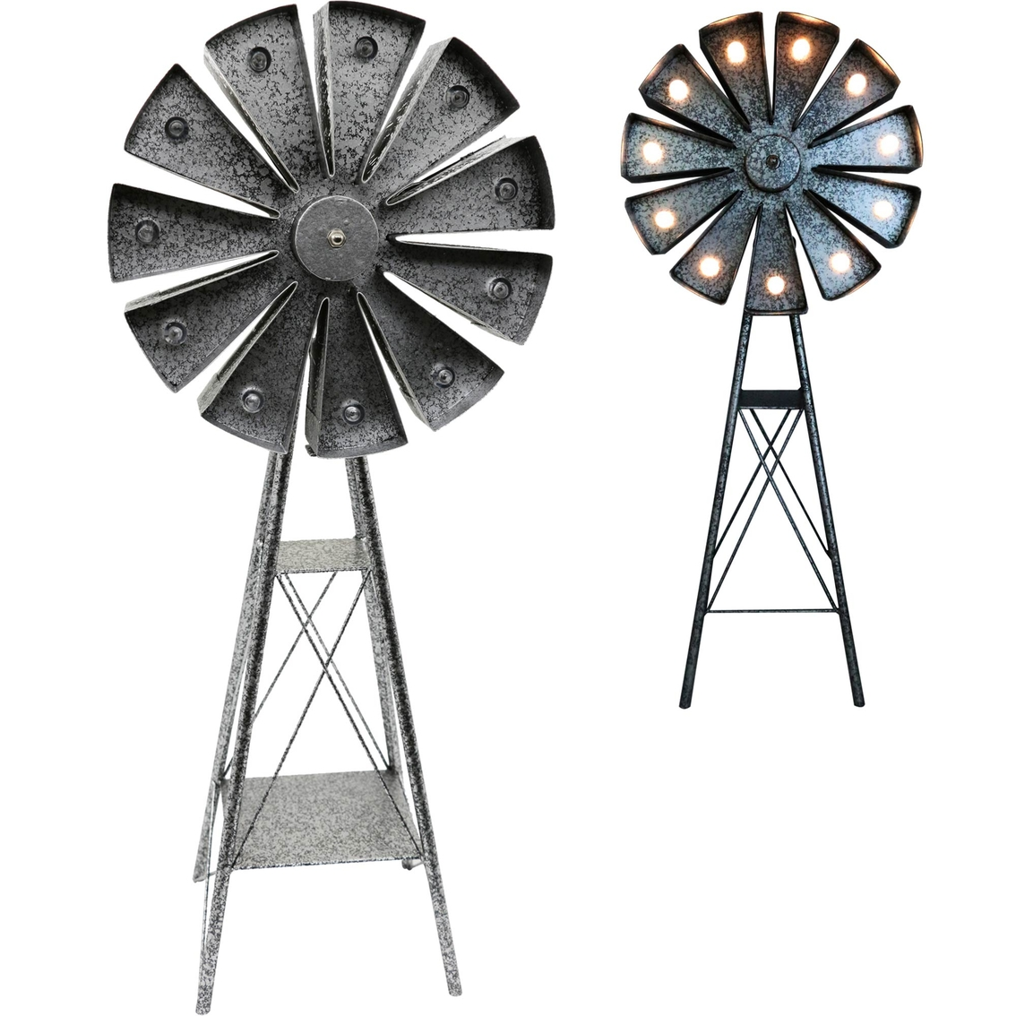 Crosslight Solar Led Windmill Garden Light