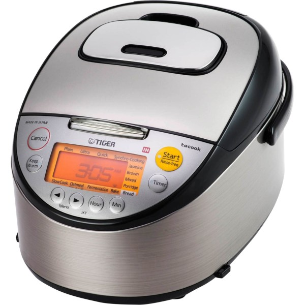 Tiger Stainless Steel 10 Cup Rice Cooker With Slow And Bread Maker Cookers Home