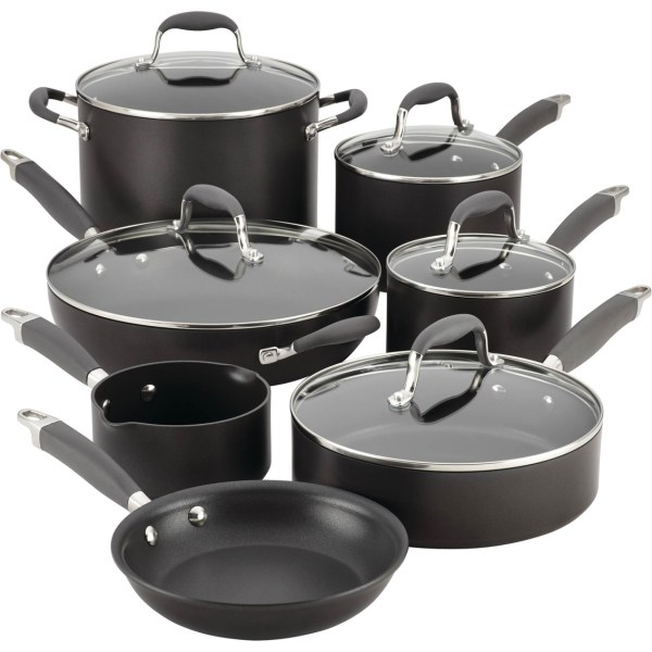 Anolon Advanced Hard Anodized Nonstick 12 Pc. Cookware Set Gray Home