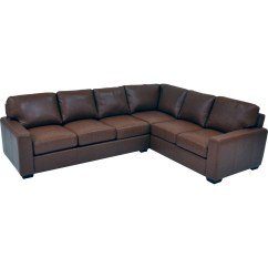 2 Pc Laf Sectional Sofa Rococo Revival Omnia Leather City Craft Raf