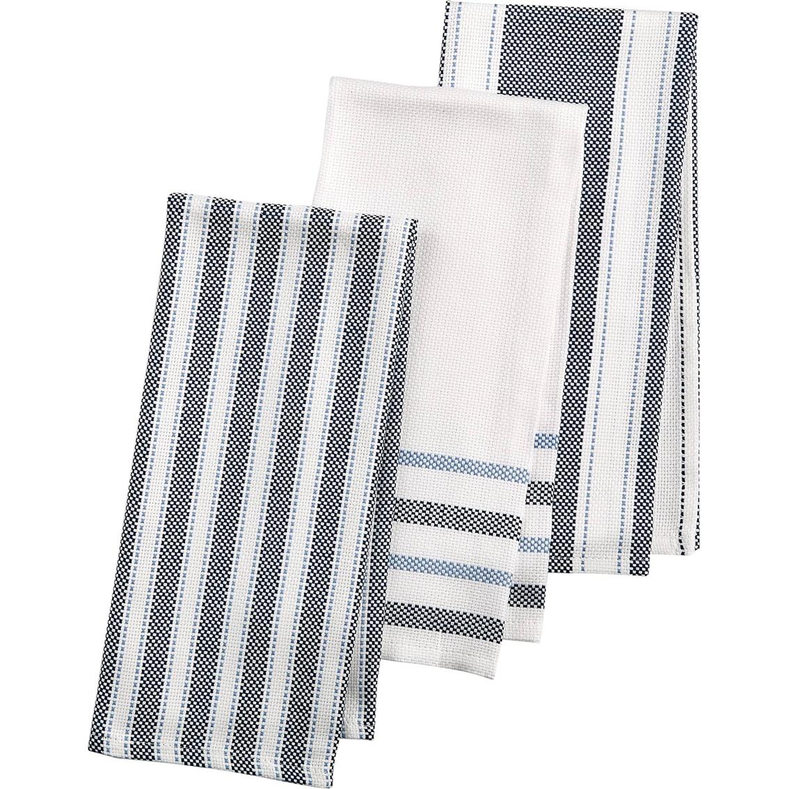 martha stewart kitchen towels blonde cabinets collection 3 pc basket weave