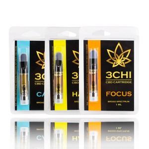 3CHI CBD cartridges calm happy focus