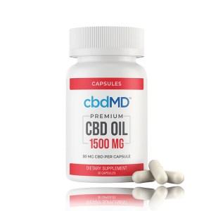 cbdMD premium CBD Oil capsule