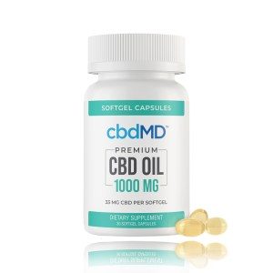 cbdMD premium CBD Oil softgel