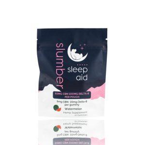 slumber sleep aid CBN Delta 8 gummies watermelon